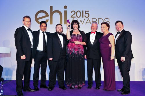 The Portsmouth Hospitals And Nervecentre Team Collecting The Ehi Award